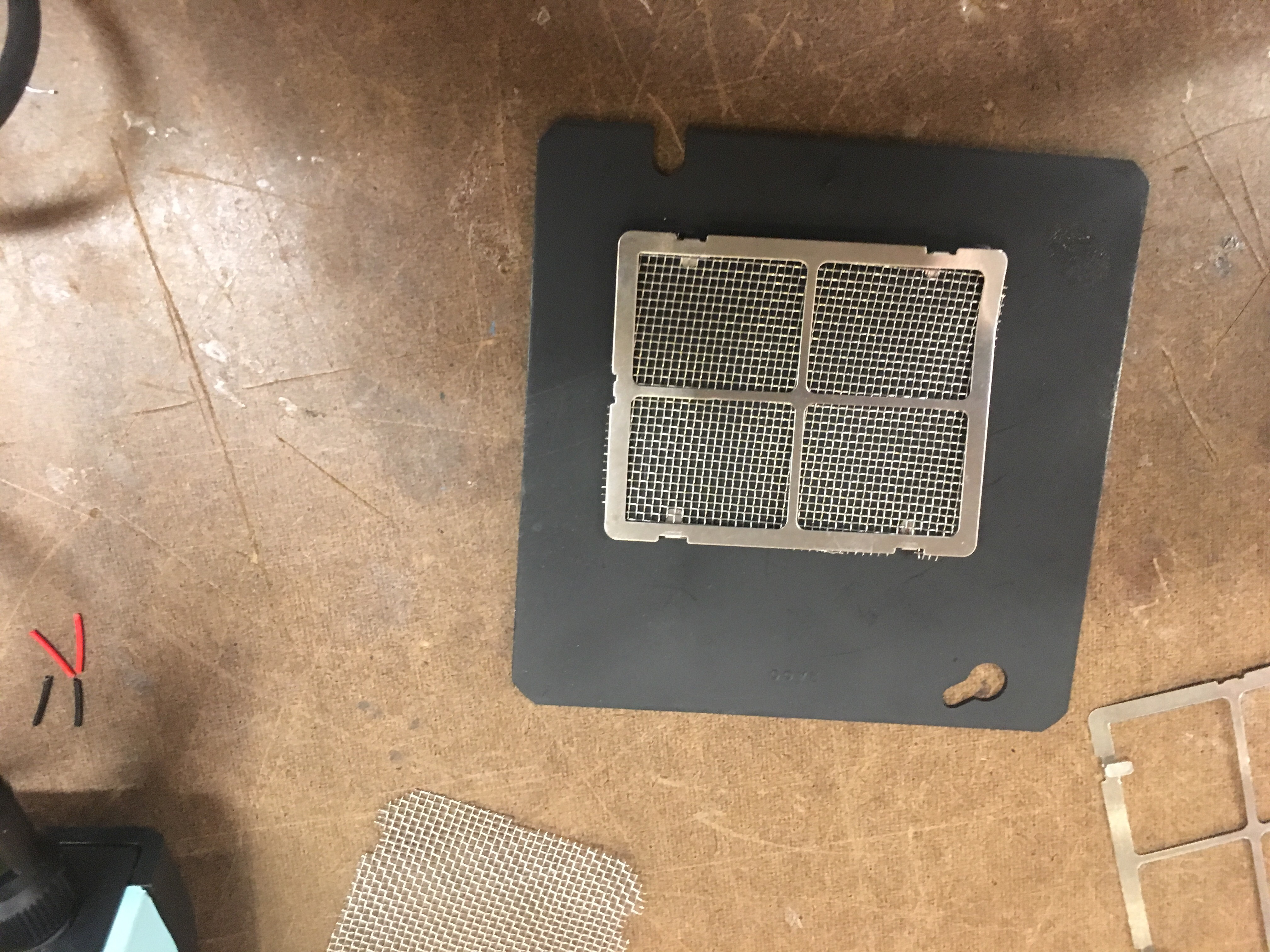 image of positioning speaker grill